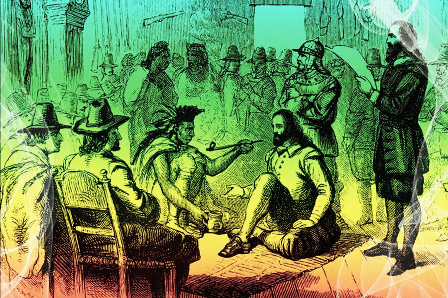 fajka mieru indiáni a dobyvateľ